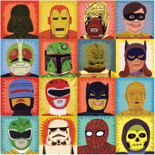 jack teagle,art modeste,art singulier,figurines,jouet,super héros,superhero