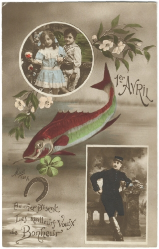 cartes postales anciennes,collection, 1er avril,art populaire