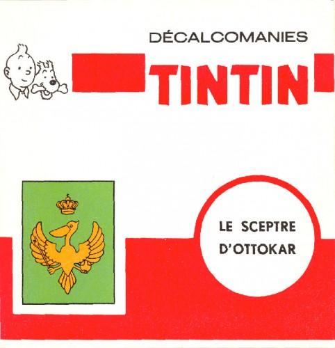 Tintin,décalcomanies tintin,DAR,Années 60,Produit dérivé tintin