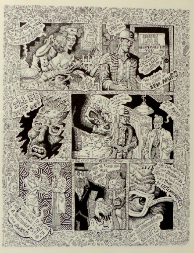 Joe Coleman,dessin,illustration,art singulier,art modeste,graphzine,The mystery of woolverine woo-bait,livre,édition