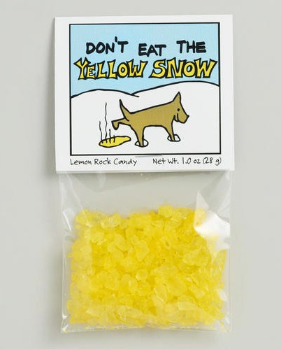 don't eat the yellow snow, frank zappa,bonbons,candy