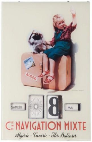 calendriers publicitaire Gerrer, collection, fixé sous verre, brocante