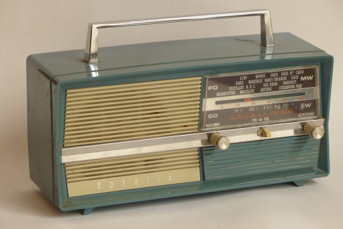 Radio,transistor,optalix,brocante,collection,france Inter